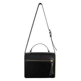 Omni กระเป๋าหนังทรงกล่อง - สีดำ