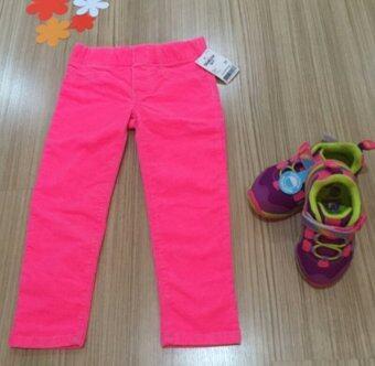 OSHKOSH กางเกงยีนส์ลูกฟูก สีชมพูสะท้อนแสง