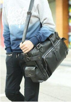 Osaka กระเป๋าสะพายไหล่ผู้ชายหรือถือ หนัง PU รุ่น NG21 - Black