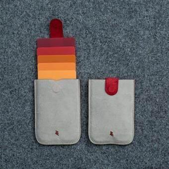 Dax กระเป๋านวัตกรรม ใส่เครดิตการ์ด นามบัตร เงิน หนังกระเป๋ากันน้ำ ดูทันสมัย ตัวเก็บแม่เหล็ก(สีเทาแดง)