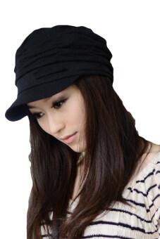 จีบผู้หญิงเป็นกระเทยยอดหมวกกันแดดสำลี (สีดำ)