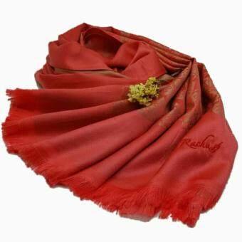 รชาผ้าพันคอผ้าไหมลายดอกไม้ (สี Strawberry)