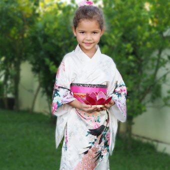 Princess of Asia ชุดกิโมโนญี่ปุ่นเด็ก (สีขาว)