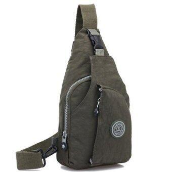 RICHCOCO กระเป๋าเป้ สายเดี่ยว Nylon leisure Backpack K03_02-Green(d)