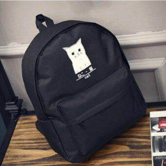 A billion กระเป๋าแฟชั่นสตรี กระเป๋าเป้สะพายหลังรูปแมว (สีดำ) รุ่นF-10014