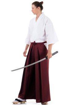 Princess of asia ชุดฮากามะ (สีเลือดหมู/ขาว)