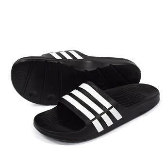 ADIDAS รองเท้าแตะ ผู้หญิง รุ่น Duramo Slides women's adidas Sport Training Black White ลิขสิทธิ์แท้