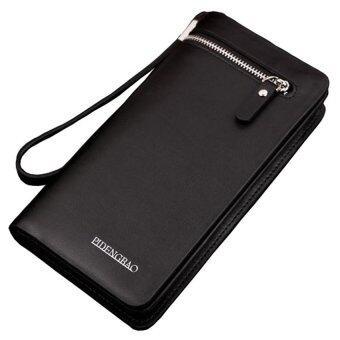 Man Rewards กระเป๋าสตางค์ พร้อมสายคล้องมือรุ่น WL-3393 (สีดำ)