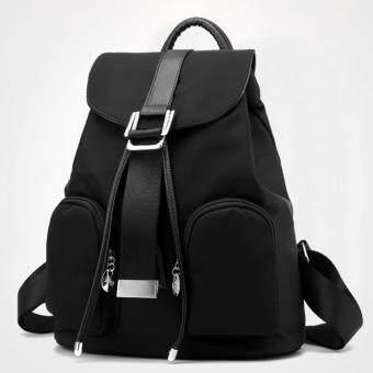 Little Bag กระเป๋าเป้สะพายหลัง กระเป๋าเป้เกาหลี กระเป๋าสะพายหลังผู้หญิง backpack women รุ่น LP-114 (สีดำ)
