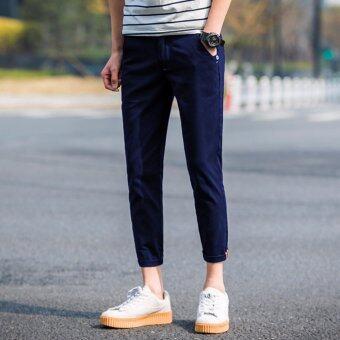 SAVE กางเกงยีนส์แฟชั่น กางเกงยีนส์ขายาวผู้ชาย (สีกรม)รุ่น 316