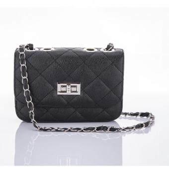 Premium Bag กระเป๋าแฟชั่น กระเป๋าสะพายข้าง รุ่น PB-004 (สีดำ)