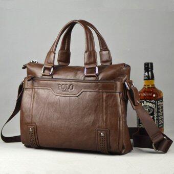 ธุรกิจกระเป๋าสะพายหนังแท้ของคนตายกระเป๋าหนังกระเป๋าเอกสารกระเป๋าถือแล็ปท็อปเก่า Crossbody (สีน้ำตาล)