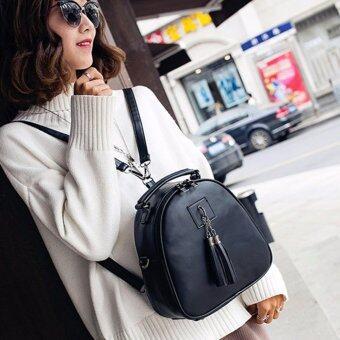 Little Bag กระเป๋าเป้เกาหลี กระเป๋าสะพายหลังผู้หญิง กระเป๋าแฟชั่น backpack women รุ่น LP-146(สีดำ)