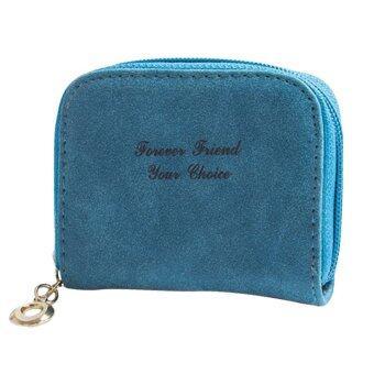 กระเป๋าถือน่ารัก ๆ กระเป๋าสตางค์กระเป๋ามินิขัดกระเป๋าเหรียญรูดซิปกระเป๋าถือไพ่น้ำเงิน-