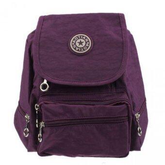 กระเป๋าเป้กระเป๋าเป้สะพายหลังไนลอนกระเป๋านักเรียนโรงเรียนเดินป่านักท่องเที่ยวกระเป๋ากระเป๋าสีม่วง-ในประเทศ