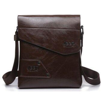คนจรส่งกระเป๋าสะพายไหล่กระเป๋าเดียวธุรกิจกระเป๋าหนังกระเป๋าสะพาย (สีน้ำตาล)