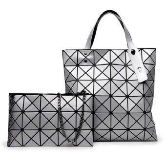 Bag Fashion กระเป๋าแฟชั่น สำหรับถือและสะพายไหล่ รุ่นht (สีเงิน) แพ็คคู่