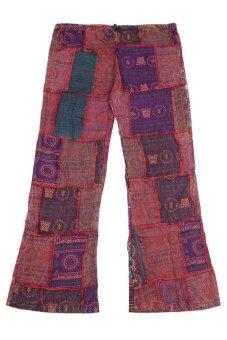 Princess of Asia กางเกงข้าม้าผ้าต่อเนปาล (โทนสีม่วงแดง)