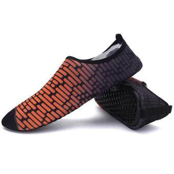 เพศชายว่ายน้ำในฤดูร้อนหญ้าคาแฟลตรองเท้านุ่ม Yoga Sport รองเท้า (ส้ม)
