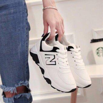 Sharni รองเท้าผ้าใบสไตล์เกาหลีทรง Sport Girl รุ่น SN637