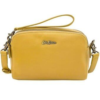 Harga CATH KIDSTON MINI LEATHER DOUBLE ZIP (YELLOW)