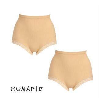 MUNAFIE JAPAN กางเกงในกระชับสัดส่วน กางเกงในเก็บพุง (สีเนื้อ) 2pcs