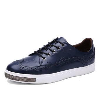 PINSV Men Fashion รองเท้าผ้าใบรองเท้าสเกตน้ำแข็ง (สีน้ำเงิน)