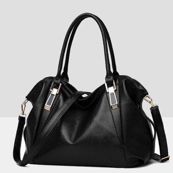 Little Bag กระเป๋าถือ พร้อมสายสะพาย กระเป๋าสะพาย แบบมีหูหิ้ว รุ่น LB-036 (สีดำ)