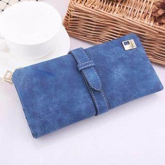 Matteo กระเป๋าใส่เช็ค กระเป๋าเงินใบยาว กระเป๋าโทรศัพท์ E-RANYD สีน้ำเงิน