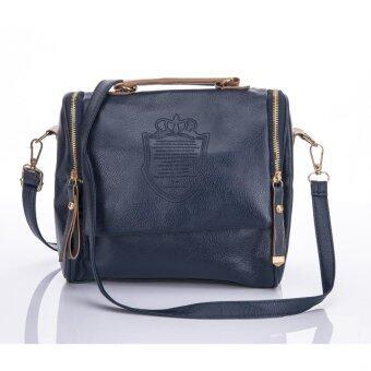 Premium Bag กระเป๋าแฟชั่น กระเป๋าสะพายข้าง รุ่น PB-006 (สีน้ำเงิน)
