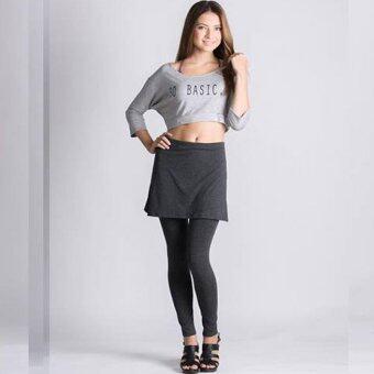 PBx - Skirt Leggings - กางเกงกระโปรงเลกกิ้ง สีเทาเข้ม