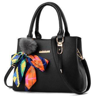 Little Bag กระเป๋าถือ กระเป๋าแฟชั่น กระเป๋าสะพายพาดลำตัว รุ่น LB-090 (สีดำ)