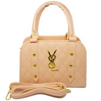 P&P Fashion Women Bag YL กระเป๋าถือแฟชั่นพร้อมสะพายข้างขายดี (สีชมพู)