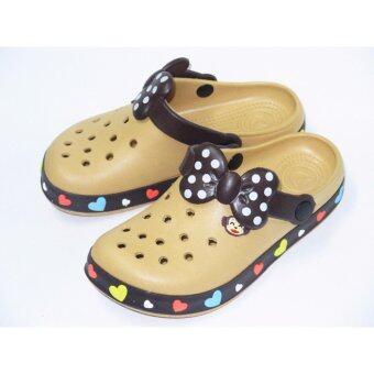 รองเท้าแตะ รองเท้าคัชชู ไฟล่อน สวม ผู้หญิง รุ่น 473 - สี กาแฟ