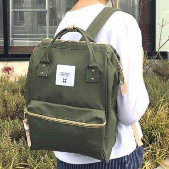 Openกระเป๋าเป้สะพายหลัง กระเป๋าแฟชั่น รุ่น034 (สีเขียวขี้ม้า)