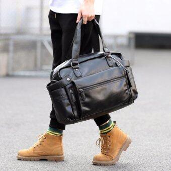 Osaka กระเป๋าสะพายข้างหรือถือผู้ชาย ใส่ note book รุ่น NE832 ( Black )