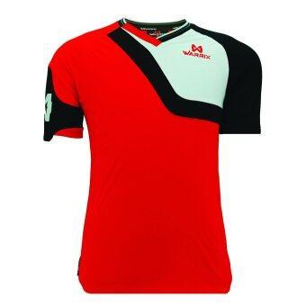 WARRIX SPORT เสื้อฟุตบอลพิมพ์ลาย WA-1504 สีแดง-ดำ