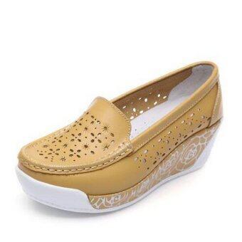 รองเท้าแฟชั่นสตรีเหล็ก ZYSK 2559 (สีเหลือง) Z061802