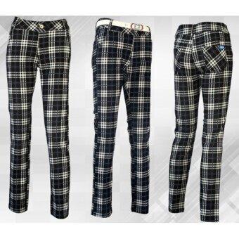 EXCEED กางเกงกอล์ฟสำหรับสุภาพสตรี ลายสก๊อต ( สีดำ ) KUZ008 PGM Lady Golf Pants BLACK