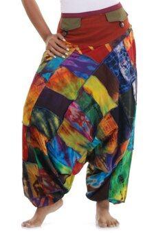 Princess of asia กางเกงแม้ว กางเกงผ้าต่อ ฮิปปี้ โบฮีเมียน
