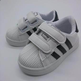 Alice Shoe รองเท้าผ้าใบ แฟชั่นเด็กผู้ชาย และ ผู้หญิง รุ่น SKL096-BK (สีดำ)