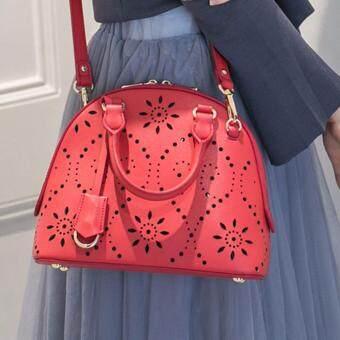 AXIXI กระเป๋าแฟชั่นรุ่น Vintage Red Perforate สีแดง