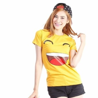 Live เสื้อยืด รุ่น หน้ายิ้ม Happy (สีเหลือง)