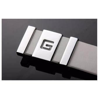 TOP CLASS เข็มขัด เข็มขัดผู้ชาย Men's Belt ดีไซน์ใหม่ G Buckle 0664 สีขาว