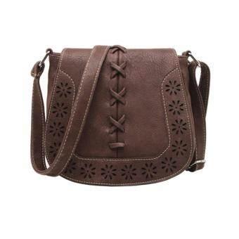Moniga-Moniga กระเป๋าถือพร้อมสะพาย รุ่น Ava สีน้ำตาลเข้ม