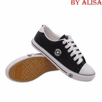 Alisa Shoes รองเท้าผ้าใบแฟชั่น รุ่น AL 9108 Black