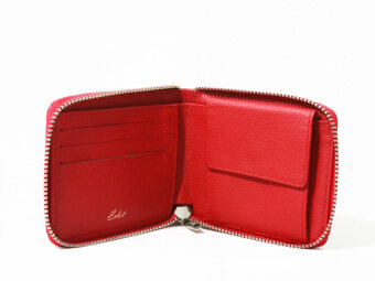PARAGON ZIPPED WALLET กระเป๋าสตางค์ซิป แบบสั้น - แดง
