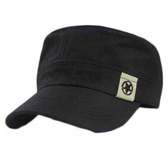 หมวกแก๊ปทรงทหาร (สีดำ) (image 1)