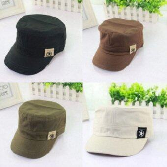 หมวกแก๊ปทรงทหาร (สีดำ) (image 2)