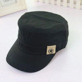หมวกแก๊ปทรงทหาร (สีดำ)